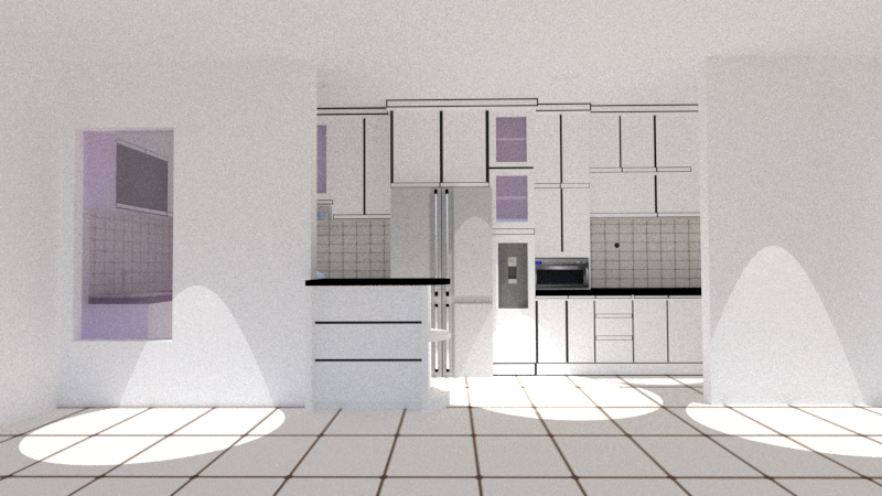 Projec kitchen set gambar 3d