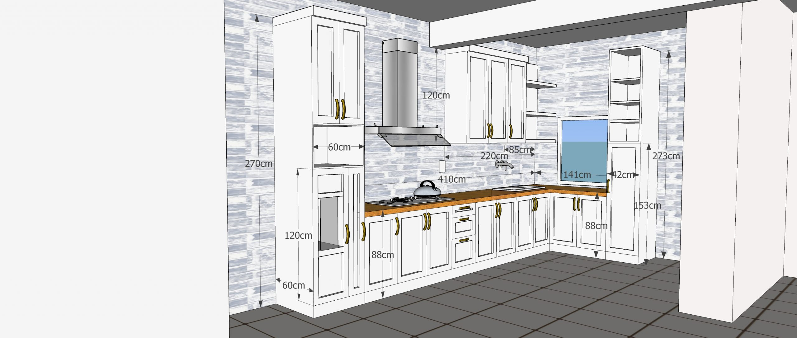 Gambar duco kitchen set